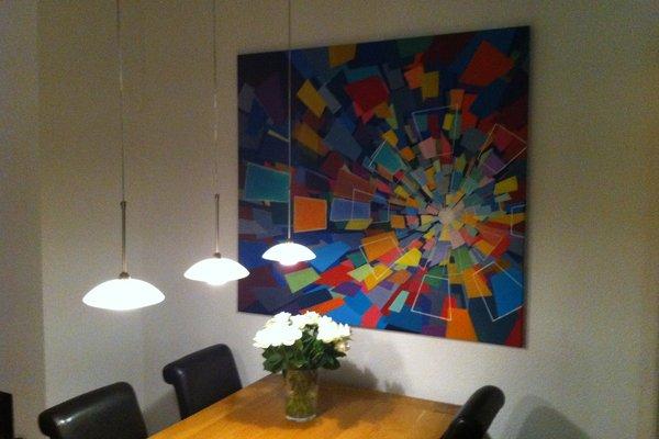 Oil-painting 'Quantum Kaleidoscope', 2012