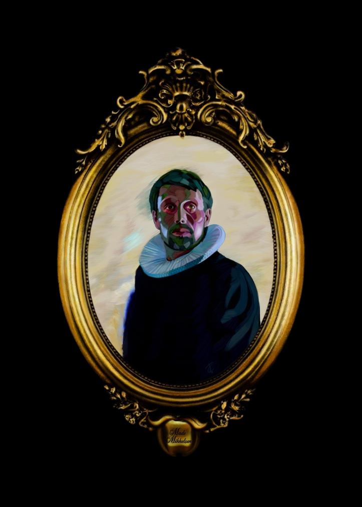 Digital Portrait 'Mads Mikkelsen/Adam's Apples' by Tim Coster