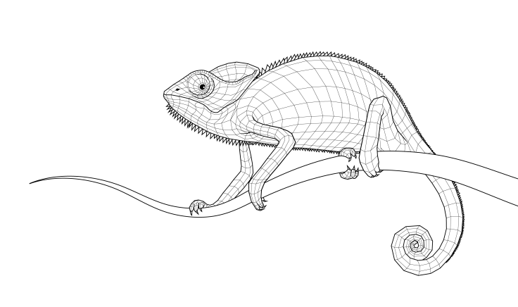 "Digital drawing ""The Chameleon"", 2016"