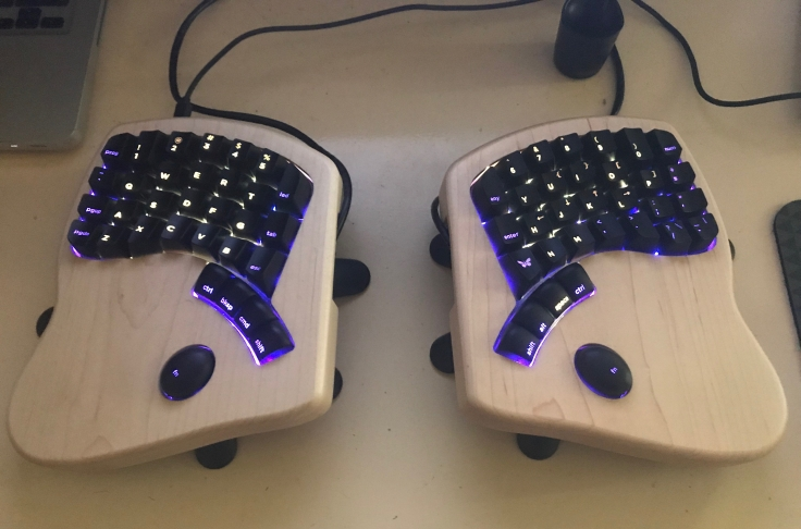 Keyboardio Model01 split ergonomic keyboard