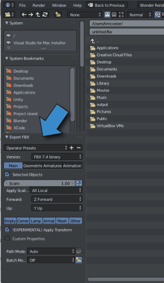 Making Blender Unity Friendly – T J Coster Fine Arts