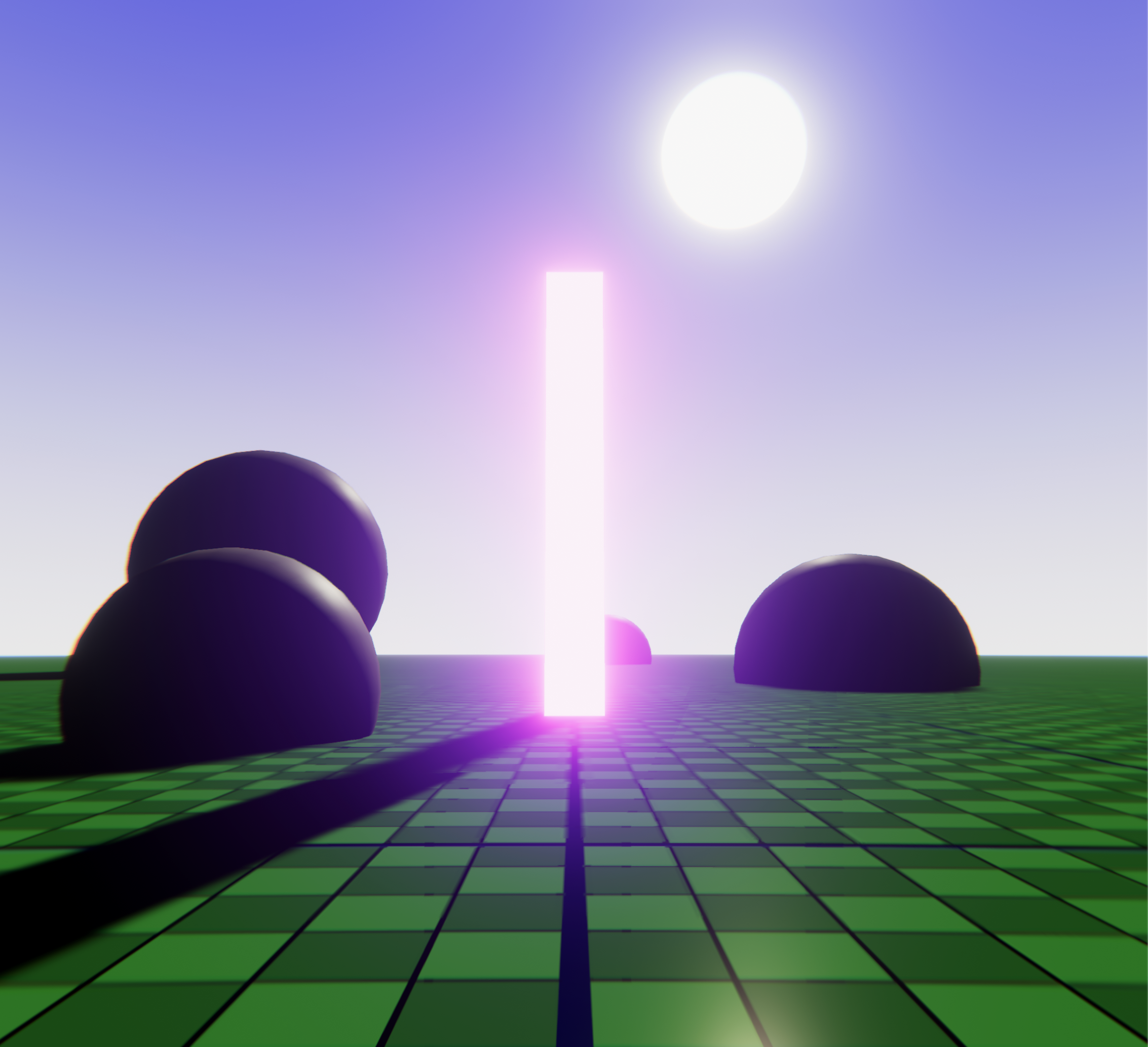Image displaying the shader graph sun used in the game scene.
